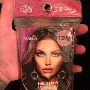 New Halo Hair extensions Dark Brown